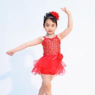 Kids' Dancewear Outfits Children's Performance Organza / Lycra Sequins Sleeveless Natural