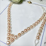 Freshwater pearl necklace bracelet