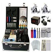 kit de tatouage basekey Machine jhk052 2 machines avec poignées d'alimentation de nettoyage des aiguilles d'encre brosse