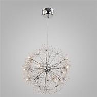 Moderne krom anheng lys globus løvetann lys med 15 lys stue
