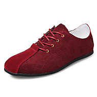 Men's Spring / Summer / Fall / Winter Round Toe Leather Outdoor / Office & Career Lace-up / Others Black / Blue / Burgundy