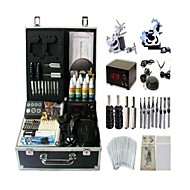 Basekey Tattoo Kit 2 s JHK062 Machine With Power Supply Grips Cleaning Brush Ink Needles