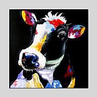 Hånd-malede DyrModerne / Klassisk / Traditionel / Realism / Parfumeret / Europæisk Stil Et Panel Canvas Hang-Painted Oliemaleri For Hjem