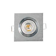3W Zápustná světla Stropní světla Panel Zápustná 1 High Power LED 200-300 lm Teplá bílá Stmívací AC 220-240 V