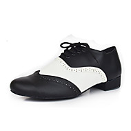 Customizable Men's Dance Shoes Latin Leather Chunky Heel Other