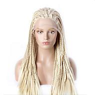 Art und Weise synthetische Perücken schnüren sich vordere Perücken gelb Hitze 32inch geflochtene beständig Haarperücken Frauen
