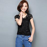 2016 Summer New Women Slim Lace T-shirt,V Neck Short Sleeve