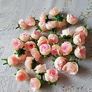 웨딩 장식 50PCS 인공 실크 장미 꽃 머리 베이비 샤워 파티 장식 호의 (더 많은 색상)