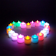 21pcs/Set Mini Multi Colors LED Electronic Candle Lamp For Wedding Party Christmas Decoration