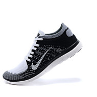 Nike Free 4.0 Flyknit Men's Running Shoes Athletic Shoes Fashion Sneakers Black and White / Taupe / Mahogany