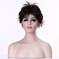 sem tampa populares castanho escuro curto encaracolado peruca de cabelo sintético perucas completas da mulher terno para a vida diária