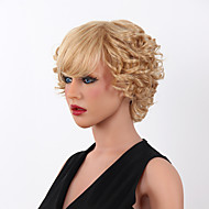 New Short Blonde Mix Curly Heat Resistant Women's  15 Colors to Choose