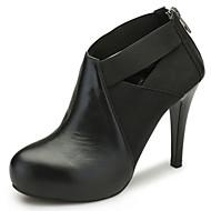 Aokang Women's Shoes Leather Stiletto Heel Heels/Comfort/Pointed Toe/Closed Toe HeelsWedding/Outdoor/Office