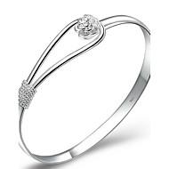 Damen Armreife Manschetten-Armbänder versilbert Silber Schmuck Für Hochzeit Party Alltag Weihnachts Geschenke 1 Stück