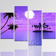 מופשט (אבסטרקטי) / Fantasy / Leisure / נוף / אדריכלות / צילום / מודרני / רומנטי הדפסת בד ארבעה פנלים מוכן לתלייה,אופקי