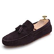 Kényelmes Könnyű talpak Bullock cipő-Lapos-Férfi-Vitorlás cipők-Szabadidős Irodai Alkalmi-Bőr-Szürke Barna Tengerészkék Piros Khakizöld