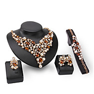 XIXI Women Fashion / Cute / Casual Gold Plated  Imitation Pearl Necklace / Earrings / Bracelet / Ring  Fine Jewelry Sets