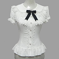 Candy Princess White Chiffon Short Sleeve Sweet Lolita Blouse