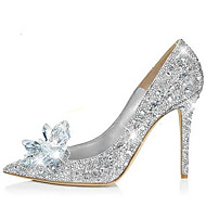 2016 New Arrivals Women's Shoes Best Seller Synthetic/Glitter Stiletto Heel Heels/Pointed Toe Pumps/Heels Wedding/Party & Evening/Dress Silver