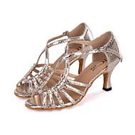 Aanpasbaar-Dames-Dance Schoenen(Blauw / Rood / Zilver / Goud) - metWijd uitlopende hak- enSamba