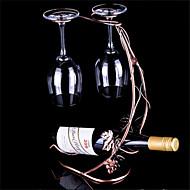 Uusi vuosikerta viinipullo haltija metalli viinipulloteline viinirypälelajikkeiden lasikuppeja roikkuu haltija levo bar työkalu
