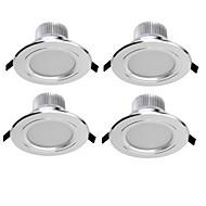 3W תאורה בשקעים 6 SMD 5730 300 lm לבן חם / לבן קר דקורטיבי AC 85-265 V ארבעה חלקים