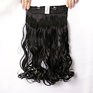 """neitsi® 1 stk 110g 22 """"3/4 full leder 5clips Kanekalon syntetiske pyntebånd hår stykker klippet i / på bølgete extensions"""