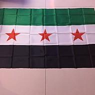 90 * 150 cm-es menekülő üzletháztól 1db szíria zászló sy syr új Szíriai Arab Köztársaság nemzeti zászló nélkül (zászlórúd)