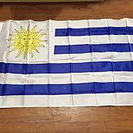 uruguay zászló poliészter zászló 5 * 3 láb 150 * 90 cm-es kiváló minőségű olcsó áron természetbeni forgatás nélkül (zászlórúd)