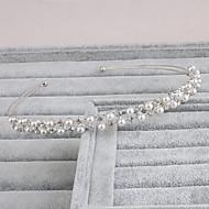成人用 真珠 かぶと-結婚式 / パーティー / カジュアル / オフィス / 屋外 ヘッドバンド 1個 クリア 円形