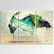 Fantasía / Ocio / Fotográfico / Fantástico / Música / Patriótico / Moderno / Romamticismo Impresión de la lona Tres PanelesListo para