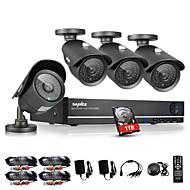 sannce® 4pcs 960H DVR de 8 canales 1000tvl sistema de kits de vigilancia de la seguridad casera del CCTV IR impermeable al aire libre