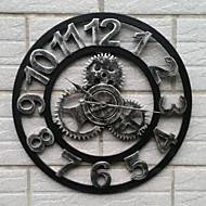 בסגנון אירופאי שעון קיר וינטג ברזל אילם (צבע כסוף)