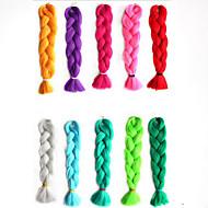 ms afrikanske kjemisk fiber farge stor barne jumbo flette hår høy temperatur wire monokromatisk flette 1pcs