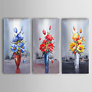 Palette Knife Art Oil Painting Hand Painted Flower Wall Decor Picture Art with Stretche Frame