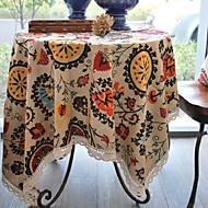floral tabela de padrão de moda pano de linho de algodão de alta qualidade hotsale mesa de café quadrada toalha de capa de pano