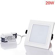 20W Downlight de LED 40pcs SMD 5730 1800-2000 lm Branco Quente / Branco Frio / Branco Natural Decorativa AC 85-265 V 1 pç