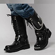 Men's Shoes Wedding / Outdoor / Office & Career / Party & Evening / Casual Customized Materials Boots Black