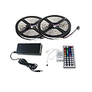 2×5M 150X5050 SMD RGB LED Strip Light and 44Key Remote Controller and 6A US Power Supply (AC110-240V)