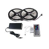 ZDM ™ 2 × 5 m 150x5050 SMD RGB LED strip světla a 44key dálkového ovladače a 6a nám napájení (ac110-240v)