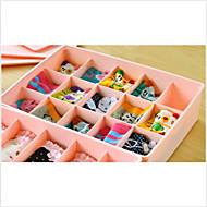 15 Case Underwear Socks Ties Bras Wardrobe Organizer Drawer Pink Storage PP Plastic Box