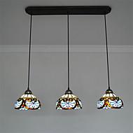 8inch 3-lights Retro Tiffany Pendant Lights Glass Shade Living Room Dining Room light Fixture