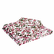 "Sheet Set,4-Piece Microfiber Red rose with 12"" Pocket Depth"