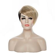 breve colore del doulbe rettilineo modo superiore (bionda&capelli parrucche sintetico nero) della donna parrucca