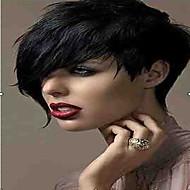 cabelo perucas sintéticas moda 1b cor preta curta da mulher cacheados