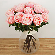 1 haara Silkki Ruusut Pöytäkukka Keinotekoinen Flowers