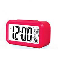 stor skjerm lcd elektronisk klokke lat lys induksjon snooze vekkerklokke smart vekkerklokke (assortert farge)