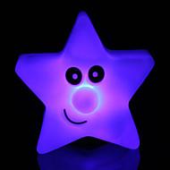 δημιουργικό χρώμα αλλάζει ακρυλικό φωτός αστέρι πολύχρωμα πέντε αστέρων οδήγησε τη νύχτα φως μικρό φανάρι διακόσμησης σπιτιού