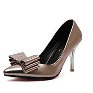 Chaussures Femme-Soirée & Evénement-Argent / Champagne-Talon Aiguille-Talons-Talons-Laine synthétique / Similicuir
