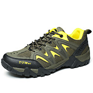 Men's Shoes Outdoor/Mountaineer/Hiking/Athletic Profession Tulle Leather Sneaker Shoes Bule/Yellow/Orange 38-46